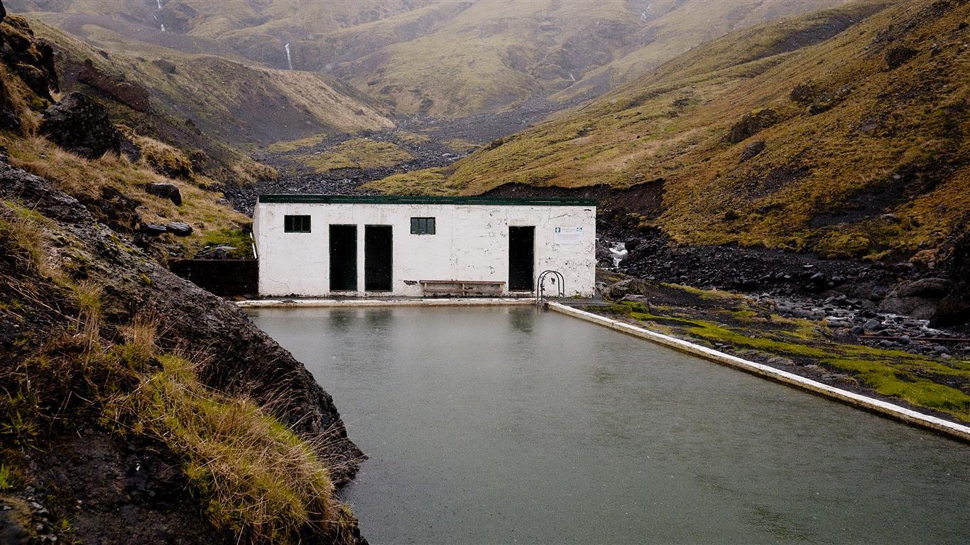 Seljavallalaug swimming pool, one of Iceland's best-kept secret.